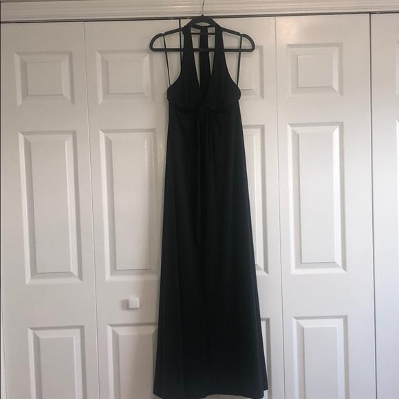 BCBGMaxAzria Dresses & Skirts - BCBG MAXAZRIA XS Dark Green Halter Maxi Dress